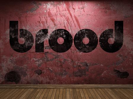 brood: brood word on red wall