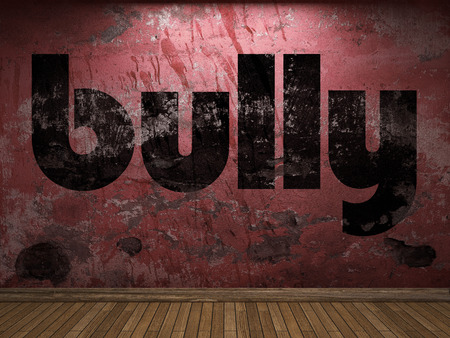 bully: bully word on red wall