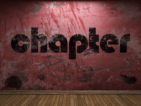 chapter: chapter word on red wall