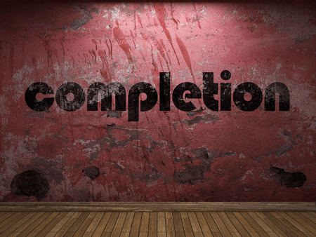 completion: completion word on red wall