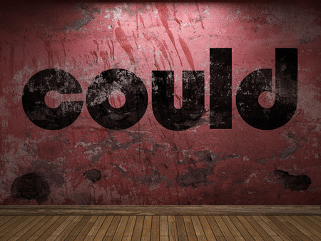 could: could word on red wall