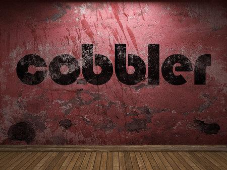 cobbler: cobbler word on red wall