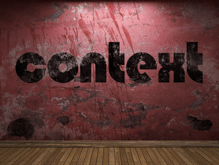 context word on red wall
