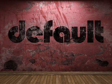 default: default word on red wall