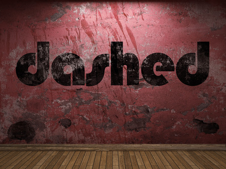 dashed: dashed word on red wall