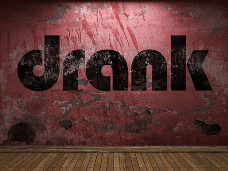drank: drank word on red wall
