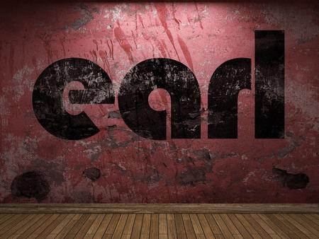 earl: earl word on red wall