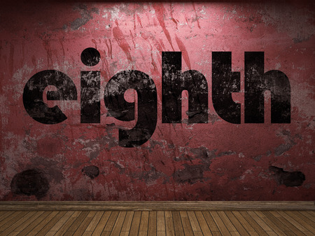 eighth: eighth word on red wall