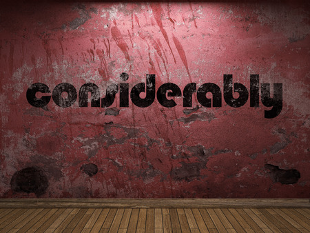 considerably word on red wall