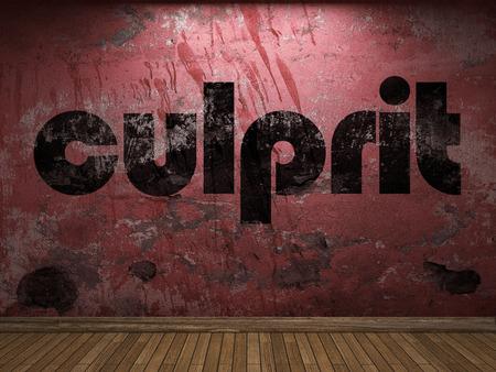 culprit: culprit word on red wall