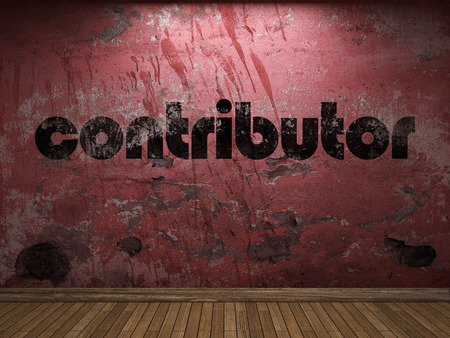 contributor: contributor word on red wall