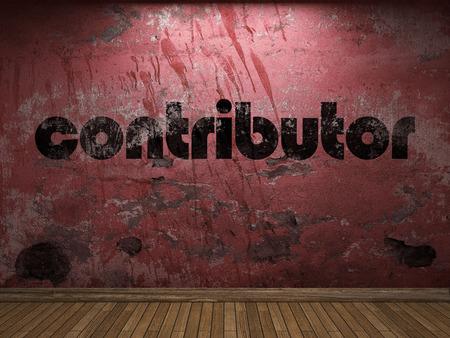 contributor: contributor word on red wall