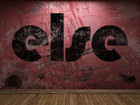 else: else word on red wall Stock Photo