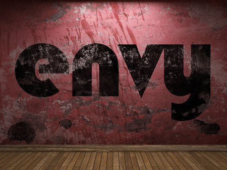 envy: envy word on red wall