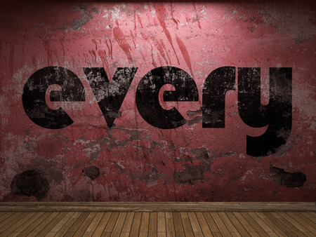 every: every word on red wall