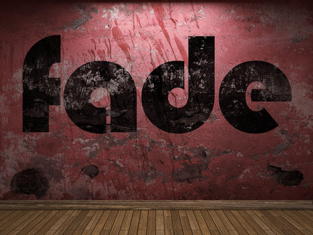 fade: fade word on red wall