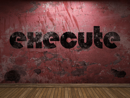 execute: execute word on red wall