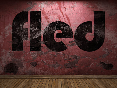 fled: fled word on red wall