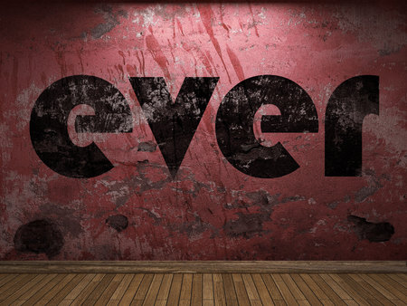 ever: ever word on red wall
