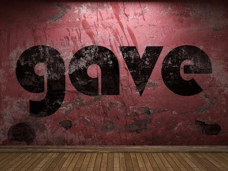 gave: gave word on red wall
