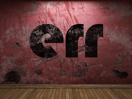 err: err word on red wall