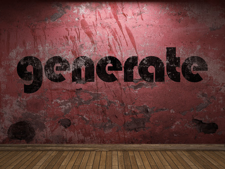 generate: generate word on red wall