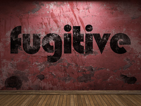 fugitive: fugitive word on red wall