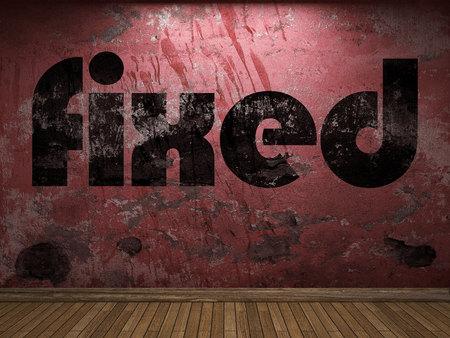 fixed: palabra fija en la pared roja
