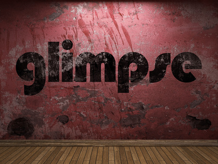 glimpse: glimpse word on red wall