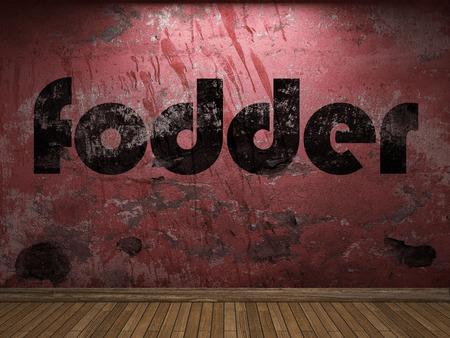 fodder: fodder word on red wall