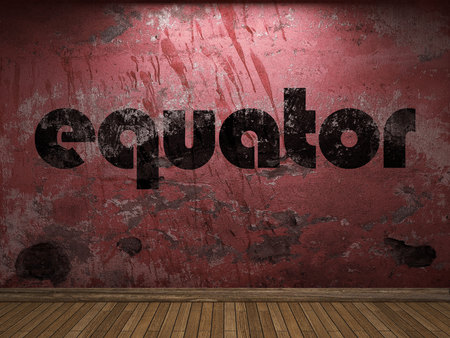 equator: equator word on red wall