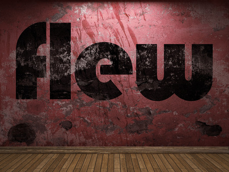 flew: flew word on red wall