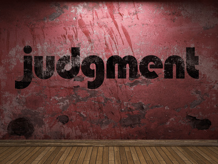 judgment: judgment word on red wall