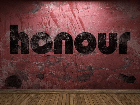 honour: honour word on red wall