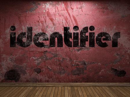 identifier: identifier word on red wall