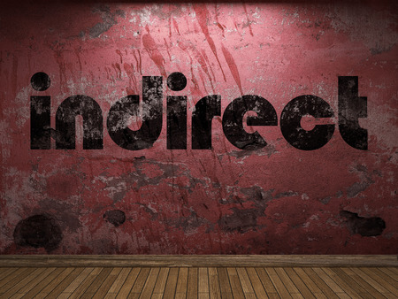 indirect: indirect word on red wall Stock Photo