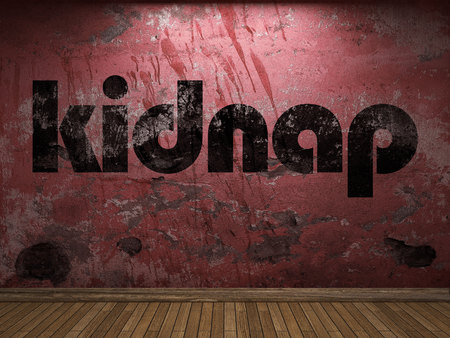 kidnap: kidnap word on red wall