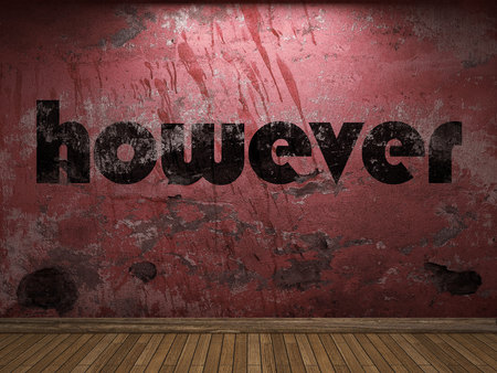however: however word on red wall