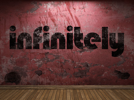 infinitely: infinitely word on red wall