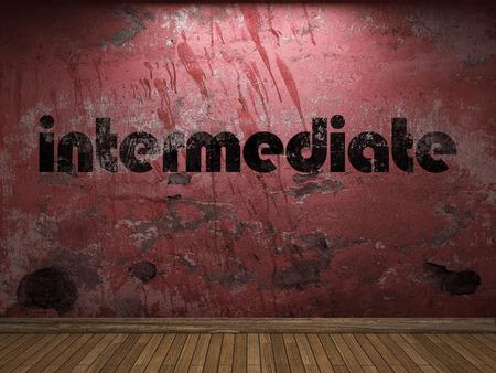 intermediate: intermediate word on red wall