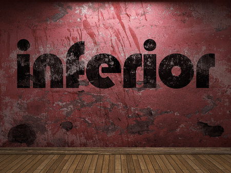 inferior: inferior word on red wall