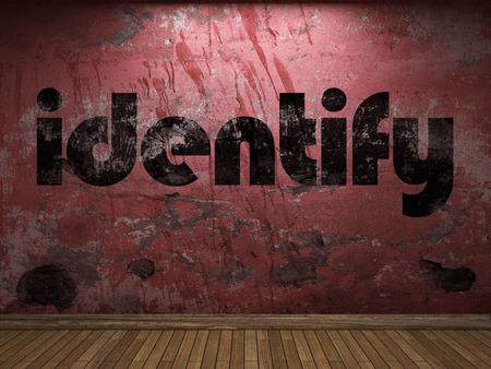 identify: identify word on red wall