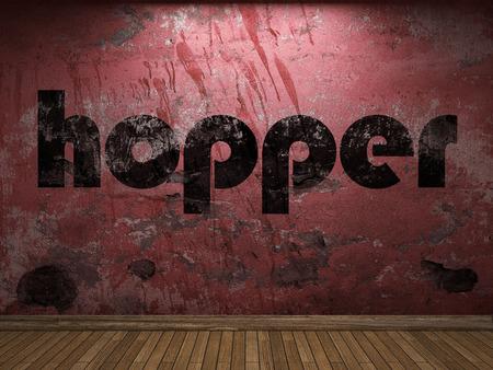 hopper: hopper word on red wall