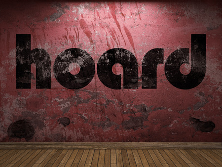hoard: hoard word on red wall