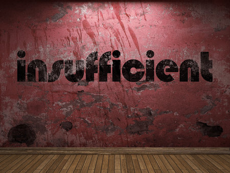 insufficient: insufficient word on red wall