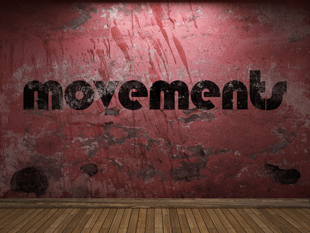 propulsion: movements word on red wall