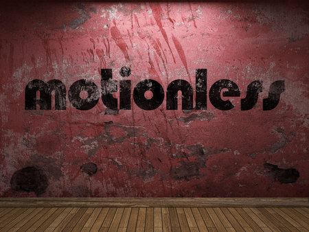 motionless: motionless word on red wall