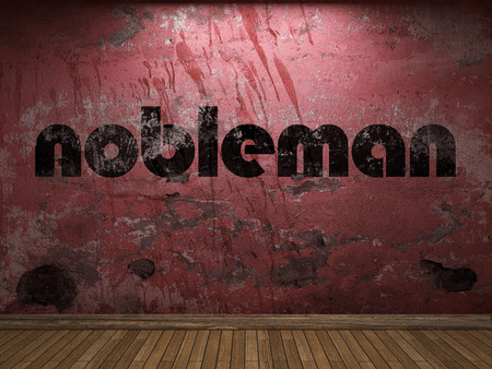 nobleman: nobleman word on red wall