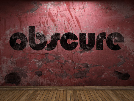 obscure: obscure word on red wall