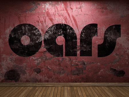 oars: oars word on red wall